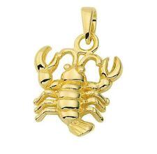 585 Gold - Gelbgold - Sternzeichenanhänger - Krebs - Anhänger  Sternzeichen