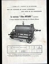 """BORDEAUX (33) MACHINE / LAVEUSE AUTOMATIQUE """"F. BITARD"""" Tract MODE d'EMPLOI 1930"""