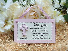 D24 Personalised Godchild Goddaughter Son from Godparent Christening gift plaque