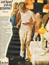 Publicité Advertising 1971  Lingerie HOM slip homme tee shirt sous vetement