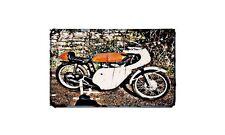 Gilera Six Day Special Motorbike Sign Metal Retro Aged Aluminium Bike