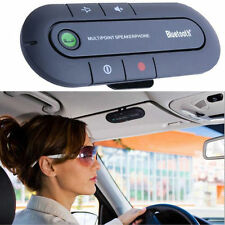 Bluetooth Slim Magnetic Hands Free In Car Wireless Speaker Phone Kit Visor Clip