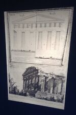 "Giovanni Piranesi ""Temple Of Concord"" 35mm Italian Art Etching Glass Slide"