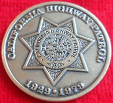 CALIFORNIA HIGHWAY PATROL 50TH ANNIVERSARY CHALLENGE COIN CHP  (POLICE LAPD FBI