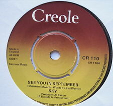 "SKY - See You In September - Excellent Condition 7"" Single Creole CR 100"