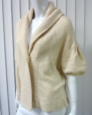 BCBG MAX AZRIA Oversized Long Sleeve Cardigan Sweater Size XS, Ivory