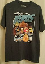 Star Wars Angry Birds T Shirt - M - May The Birds Be With You Adult Short Sleeve