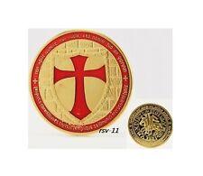 Tempelritter Kreuzritter Gold Medaille farbig color sammeln!