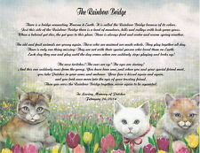 Pet Memorial Poem The Rainbow Bridge For Loss Of Dog or Cat