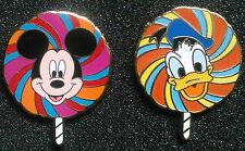MICKEY MOUSE AND DONALD DUCK LE PINS FROM 2008 WDW LOLLIPOP MYSTERY PIN SERIES