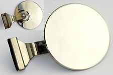 Quarterlight Clamp-On Classic Car Circular Overtaking Mirror with Convex Glass
