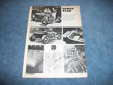 "1923 Ford Model ""T"" Bucket Vintage Hot Rod Article ""Family Plan"""