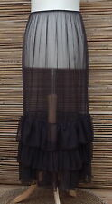 LAGENLOOK MAXI PETTICOAT UNDERSKIRT/DRESS*MULBERRY*MADE IN ITALY WAIST UP TO 54""