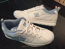 New womens DC Shoes Leather Luna White/blue Size - 9