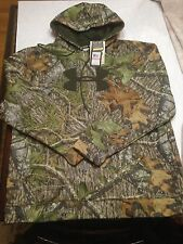NWT Mens Under Armour Hunt 3XL MOSSY OAK Camo Large Logo Hoodie RV $75 Loose