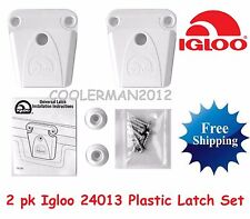 2 NEW IGLOO COOLER PART #24013 - LATCH, POST AND SCREWS PARTS KIT REPLACEMENT