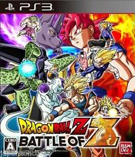Used PS3 Dragonball Z Battle of Z PLAYSTATION 3 SONY JAPAN JAPANESE IMPORT