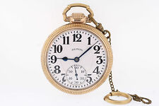 Illinois 10k GF 60 Hour Bunn Special 16s 21 Jewel Type III Railroad Pocket Watch