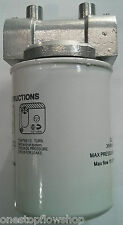 """1"""" BSP fuel filter head with 30 micron filter, particulate & water, diesel & oil"""