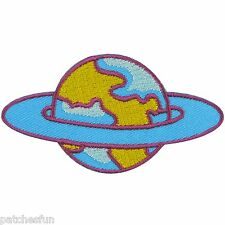 Saturn Planet Space Nasa spacecraft Earth UFO Embroidered Iron on Patches #1323