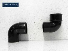 Gutter Swan Neck Down Pipe Rainwater Elbow Bend Set 68mm Black for Drain Pipe