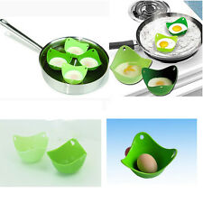 Egg Poacher Cook Poach Pods Silicone Kitchen Cookware Tool Make Cook More Easy