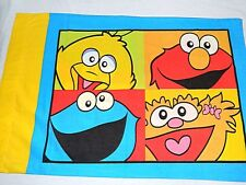 HTF 2004 Sesame Street standard Pillowcase ELMO ZOE Big Bird & Cookie Monster