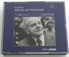 Karl Popper:  Alles Ist Nr Vermutang  4 CD Set  Audiotorium Original-Vortrage