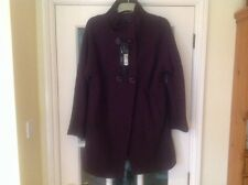 MARKS AND SPENCER WITH WOOL COAT AUTOGRAPH SIZE 14 Dark grape BNWT