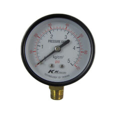 "2.5"" 60mm Brass Pressure Gauge 0-5 bar 70psi Manometer PT1/4"" Thread"