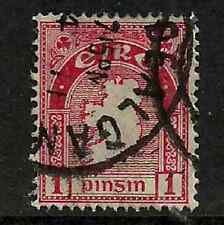 IRELAND POSTAGE ISSUE - 1940 DEFINITIVE MAP ISSUE - RED PINSIN 1 USED STAMP
