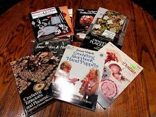 Crochet patterns, Snowflakes, Runners, Doilies, placemats, filet, lot of 12
