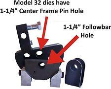 """1-1/4"""" Round Tube die set 3.5""""CLR-180 JD2 Model 32 Bender"""