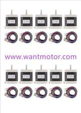 10PCS 42BYGHW609L20P1-X2,Nema17,1.7A,4000g.cm,Stepper Motor 3d Makebot printer