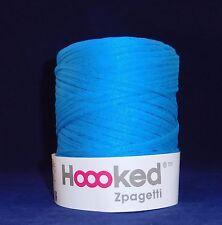 Hoooked Zpagetti T-Shirt Jersey Hilo 120m hacer Punto Lana AQUA Azul