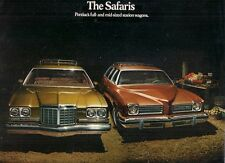 Pontiac Safari 1974 USA Market Foldout Sales Brochure LeMans Catalina Grand