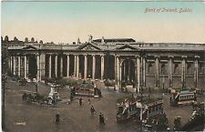 BANK OF IRELAND DUBLIN TRAMS ADVERTISING BYRANT & MAYS, FRYS COCOA POSTCARD