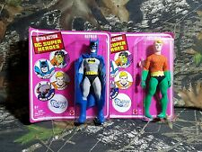 2pc NIB LOT Retro-Action DC Superheroes BATMAN AQUAMAN Mego Style Doll Figure AI