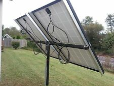 Universal solar panel pole mount kit, holds 2 large panels or 4 100 watt pan.