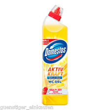 (3,77€/L) 750ml Domestos Aktiv Kraft WC Gel Citrus Crystal Multi Jet Düse