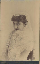 1882 IMPERIAL VIEW OF FAMED OPERA SINGER ADELINA PATTI - BY NAPOLEON SARONY, NYC
