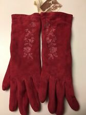 Women's Size 7 Cashmere Lined Leather /Suede Gloves Made In Italy