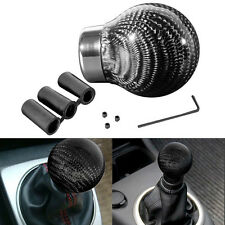 Real Carbon Fiber Car SUV Manual Automatic Ball Gear Shift Knob Handle Stick JDM