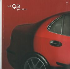 Saab 93 Sport Saloon UK  Brochure 2004
