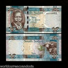 South SUDAN 10 POUNDS NEW 2011 ANIMAL UNC CURRENCY AFRICA MONEY BILL BANK NOTE