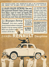 1960 Renault Dauphine french theme -  Classic Car Advertisement Print Ad J140