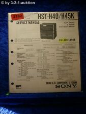 Sony Service Manual HST H40 / H45K Component System  (#3182)