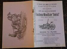 """CATALOGUE, LA FAUCHEUSE WOOD ACIER """"AMIRAL"""", 1911, MAISON PILTER Paris"""
