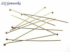50 ea 14k GOLD FILLED BALL HEAD PINS 26 ga 1.5""