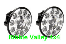 "LAND ROVER DEFENDER 7"" 180mm ROUND DUO LUX LED HEADLIGHT LHD (PAIR) TERRAFIRMA"